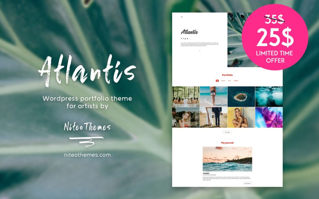 Special offer for Atlantis WordPress theme