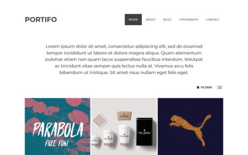 Portifo – WordPress theme