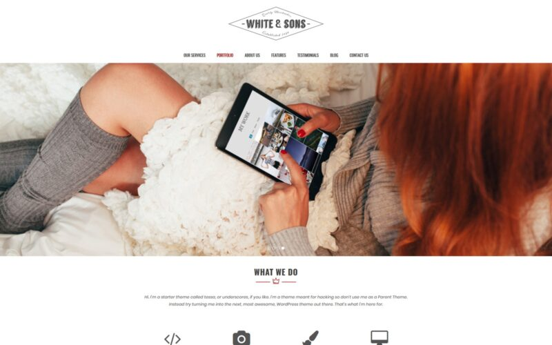 Tessa – WordPress theme
