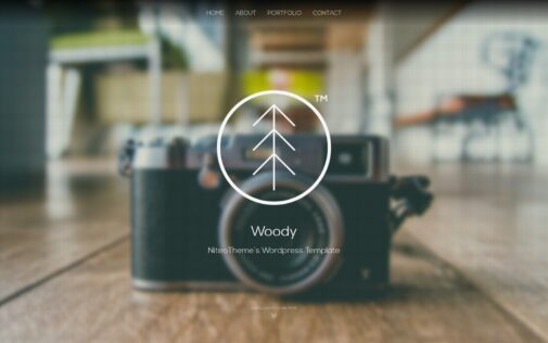 Woody – Minimal Portfolio WP theme